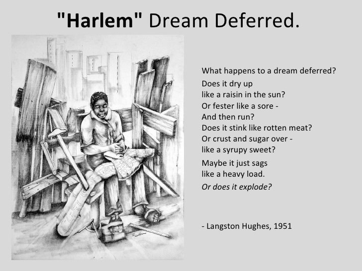 analysis of a dream deferred by langston hughes essay A dream deferred by langston hughes in many of hughes' poems, a theme that runs throughout is that of a dream deferred.